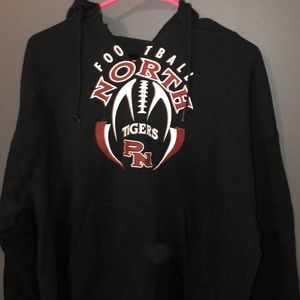 over sized football hoodie
